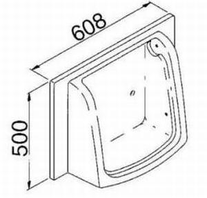 64227 Kleine kast toiletinrichting