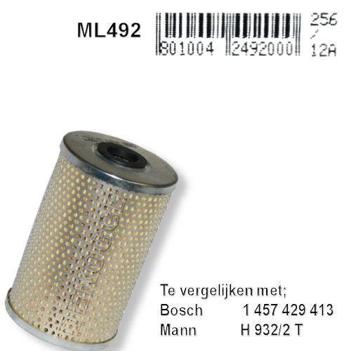 ML492 Oliefilter (HU932/4X, 1457429647))