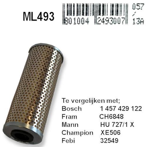 ML493 Olie filter  (1457429122)