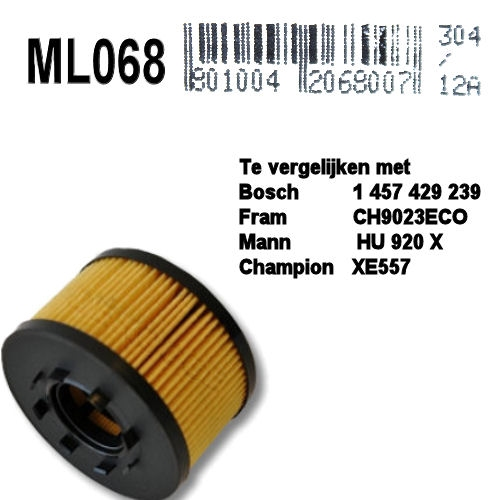 ML068 Oliefilter  (1457429239)