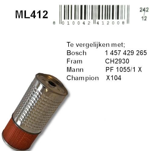 ML412 Oliefilter  (1457429265)