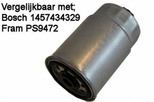 PS9472 Brandstoffilter Diesel  (1457434329)