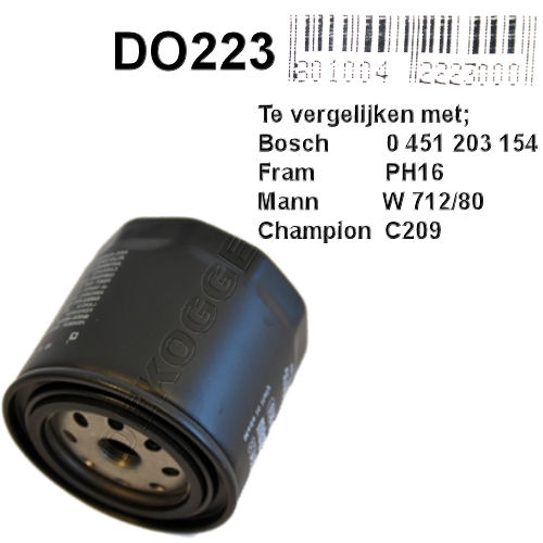 DO223 Oliefilter  (F026407055)