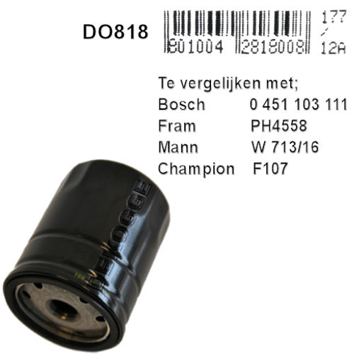 DO818  Oliefilter   (0451103111)
