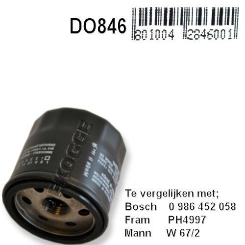 DO846  Oliefilter  (0986452058)
