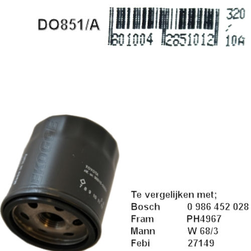 DO851A  Oliefilter  (F026407221)
