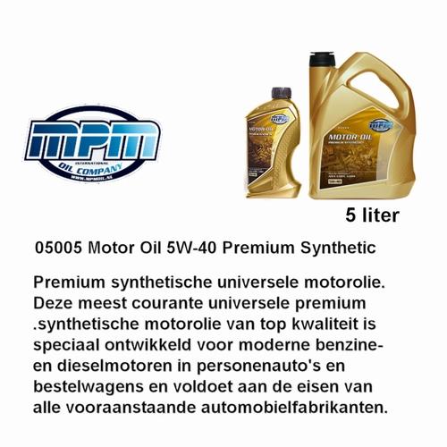 05005 Motorolie 5W- 40 MPM