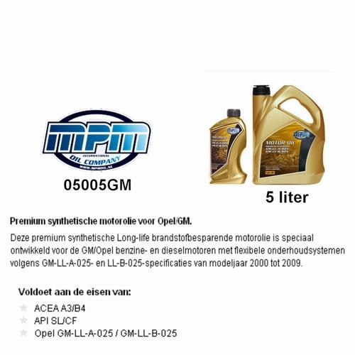 05005GM Motorolie 5W-30