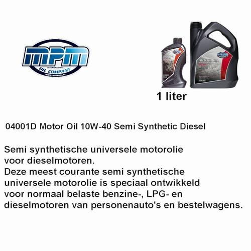 04001D Motorolie 10W40 MPM