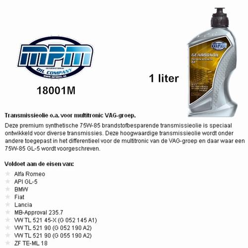 18001M Transmissie olie MPM