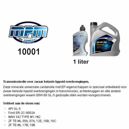 10001 Transmissie olie MPM