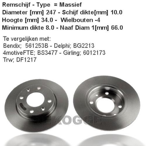 15315 Remschijf  (0986479C54)