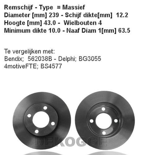 16299 Remschijf (0986478856)