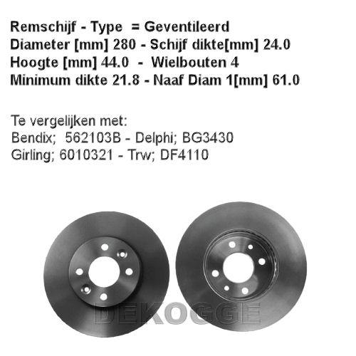 16924 Remschijf  (0986478590)