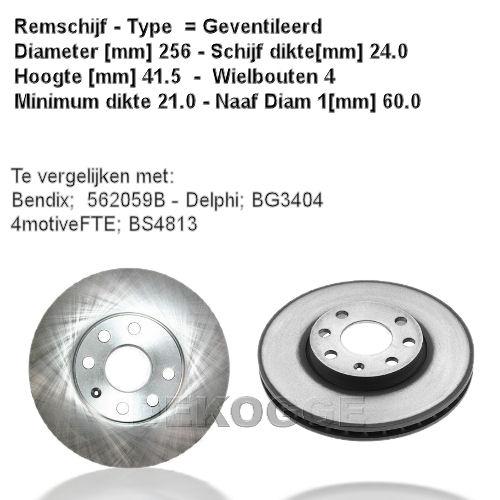 16952 Remschijf  (0986478881)