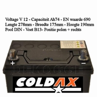 57223 Start Accu 74Ah Coldax Q-Cell