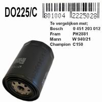 DO225C  Oliefilter