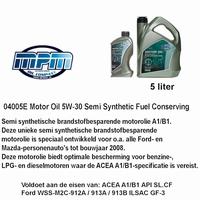04005 E Motorolie 5W - 30  Semi syntetisch MPM 5 Liter