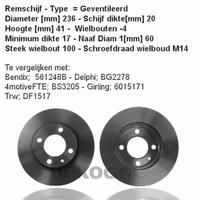 15770 Remschijf  (0986478192)